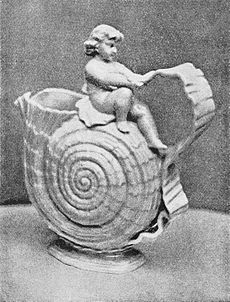 PSM V40 D308 Shell and cupid pitcher belleek.jpg