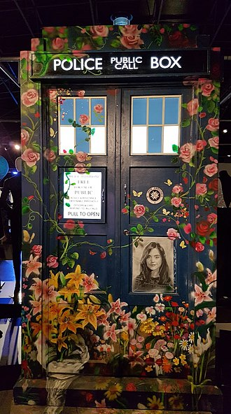 Hell Bent (Doctor Who) - The painted TARDIS at the Doctor Who Experience