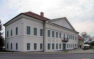 Paks - Grand Hotel Erzsébet in Paks, built in 1844