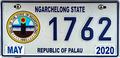 Palau license plate Ngarchelong 2020 b.png