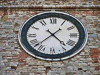 Palazzo Pretorio, Prato - Image: Palazzo Pretorio clock 2