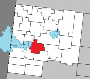 Palmarolle - Image: Palmarolle Quebec location diagram