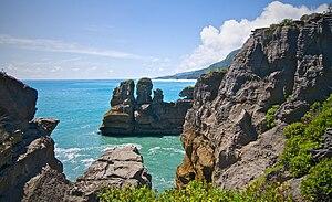 """Paparoa National Park - The """"Pancake Rocks"""" at Paparoa National Park"""