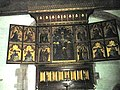 Panels above the altar at St Mary, Bromfield - geograph.org.uk - 1443146.jpg