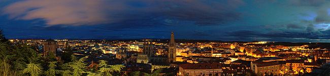 Panorámica de Burgos desde el Mirador del Castillo