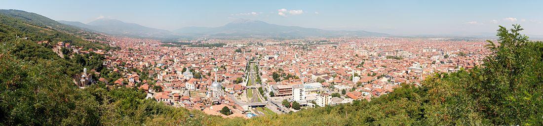 Kale tarafından şehrin panoraması