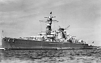 German cruiser Deutschland - Deutschland, before the outbreak of war