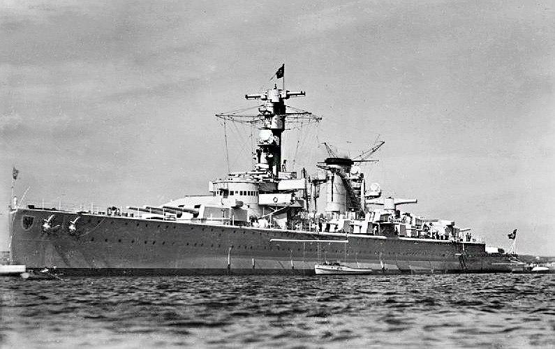 Panzerschiff Deutschland in 1936
