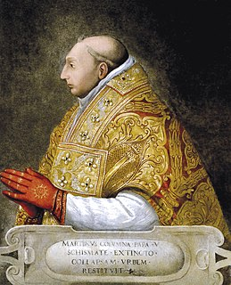 Pope Martin V 15th-century pope