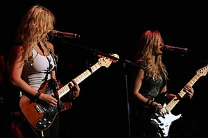 Aly & AJ - The Michalkas in concert in 2008