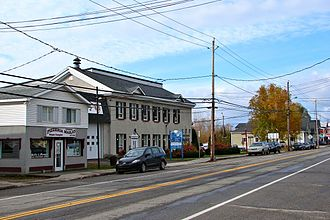Papineauville, Quebec - Former town hall along Route 148.