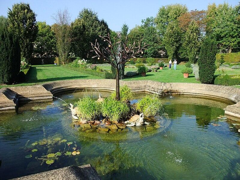 Park of Château de Cormatin, Burgundy, France
