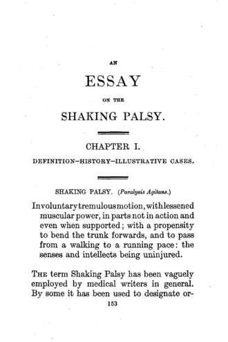 James Parkinson - First page of Parkinson's classical essay on shaking palsy