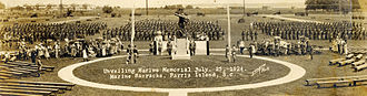 Iron Mike - Parris Island's Iron Mike dedication in 1924