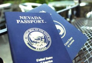 Camouflage passport - A Nevada fantasy passport