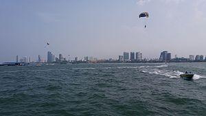 Pattaya - Skyline of Pattaya viewed from the sea
