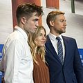 Pattinson, Miller, Hunnam at Berlinale 2017.jpg