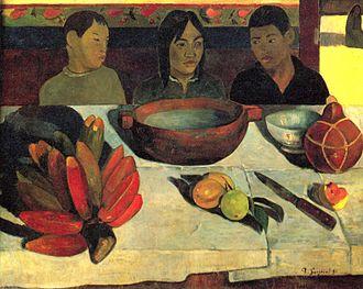 Fe'i banana - Paul Gauguin's Le Repas; Fe'i bananas bottom left
