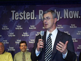 Paul Cellucci - Cellucci at a 2008 campaign event for Presidential candidate Rudy Giuliani