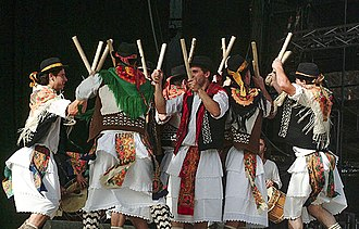 Seixal - A view of traditional Pauliteiros from the Avante! Festival