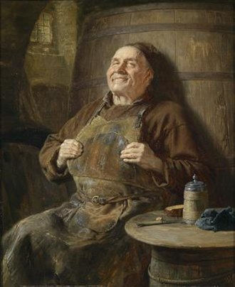 Contentment - Peace and contentment Eduard von Grützner (1897)
