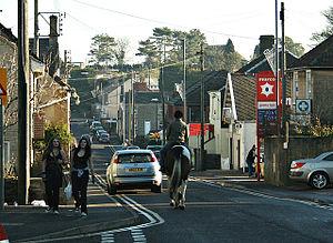Peasedown St John - Image: Peasedown St john main road