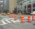Pedestrian Island construction 8th Av 47 St jeh.jpg