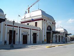 Ο κλειστός σήμερα Σταθμός Πελοποννήσου.
