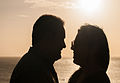 People in love in Juan Griego sunset.jpg