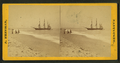 People on the shore looking at a ship, by Freeman, J. (Josiah).png