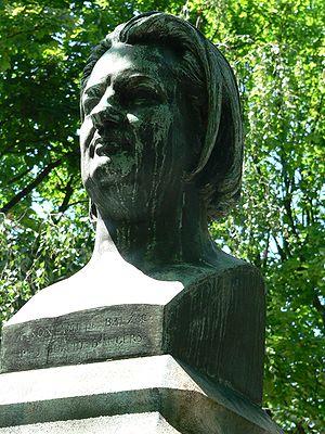 Bust of Honoré de Balzac, cimetière du Père-La...