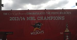 Perth Wildcats - The Wildcats' 2014 championship celebration