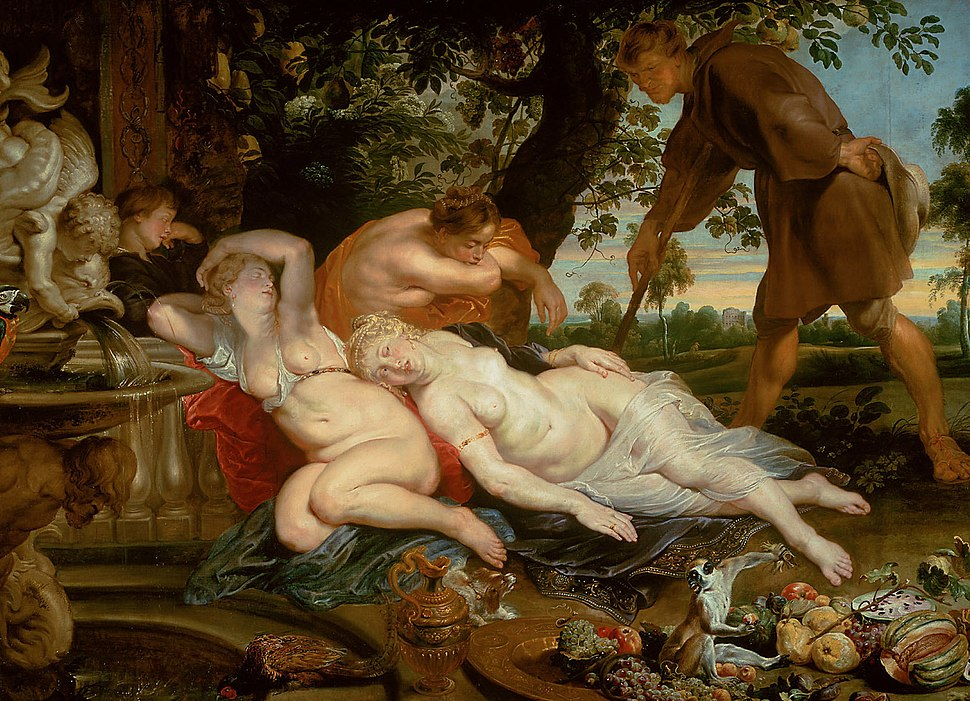 Peter Paul Rubens, Frans Snyders and Jan Wildens - Cimone and Efigenia