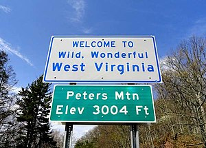 Peters Mountain - At the state line along Route 311