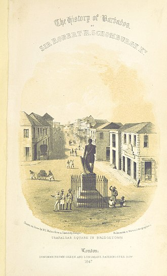 History of Barbados - Bridgetown, Barbados in 1848