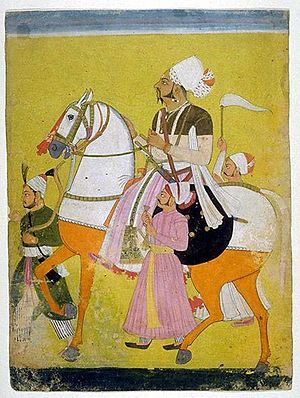 Ratlam State - Painting of Padam Singh, the Raja of Ratlam (1773 - 1800)