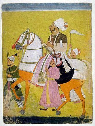 Ratlam State - Painting of Padam Singh, the Raja of Ratlam (1773 - 1800)