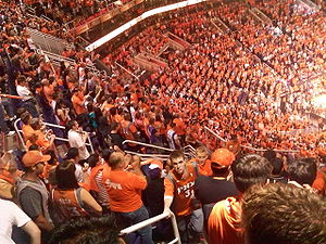 Phoenix Suns fans 2010 NBA Playoffs Conference Semifinal vs San Antonio Spurs Game 2 Planet Orange.jpg