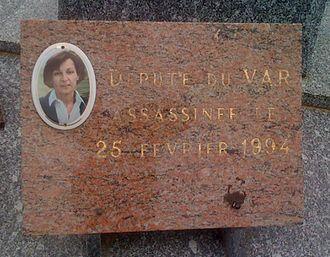 Yann Piat - Commemorative plaque on her tomb