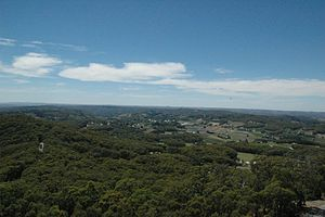 Piccadilly, South Australia - Piccadilly from Mount Lofty