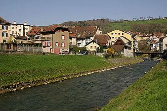 Moudon - Broye river in Moudon