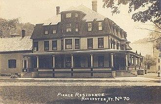 Rochester, Vermont - Image: Pierce Residence, Rochester, VT