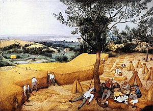 1565 in art - Pieter Bruegel the Elder, The Harvesters, 1565, Metropolitan Museum of Art New York