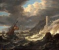 Pieter Mulier (II) - Shipping off a Rocky Coast in Storm - WGA16314.jpg