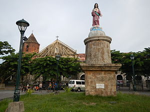 San Antonio de Padua Parish Church (Pila) - The first monument of the Sacred Heart of Jesus in Laguna can be found in Pila