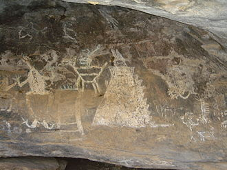Hidalgo (state) - Cave paintings in Huichapan
