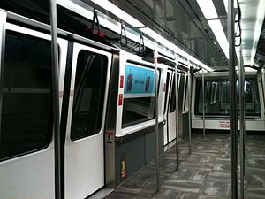 The Plane Train - The interior of the Innovia APM 100 vehicles