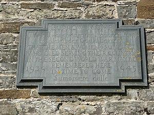 Burrow Mump - Memorial Plaque