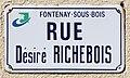 Plaque rue Désiré Richebois Fontenay Bois 4.jpg