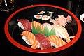 Plateau de sushis au restaurant japonais Au soleil levant de Colmar en 2013 2.jpg
